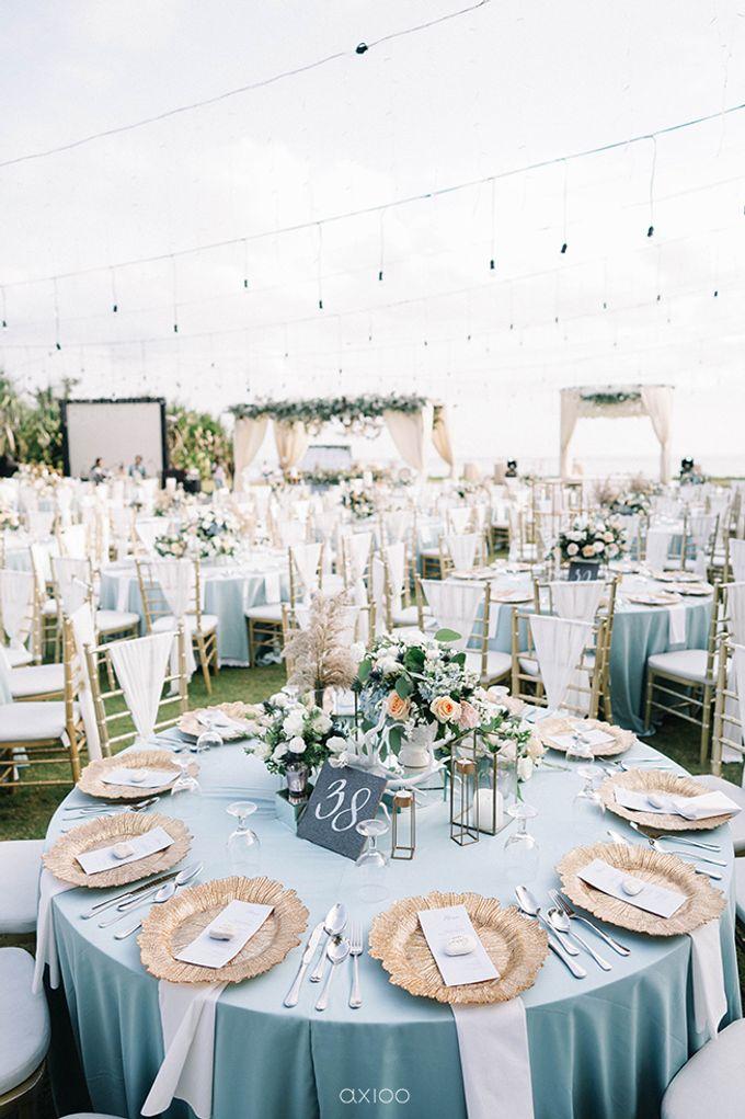 Villa Phalosa - Serene Dusty Blue Wedding by Flora Botanica Designs - 028