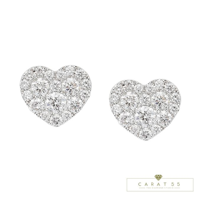 Diamond Heart Earrings by Carat 55 - 004