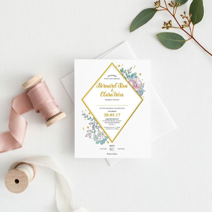Botanical Invitation Cards by mylin design & co. - 003