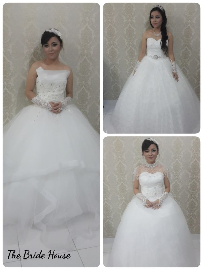makeup n dress for wedding by The Bride House - 004