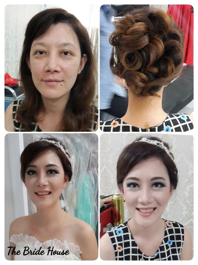 makeup n dress for wedding by The Bride House - 005