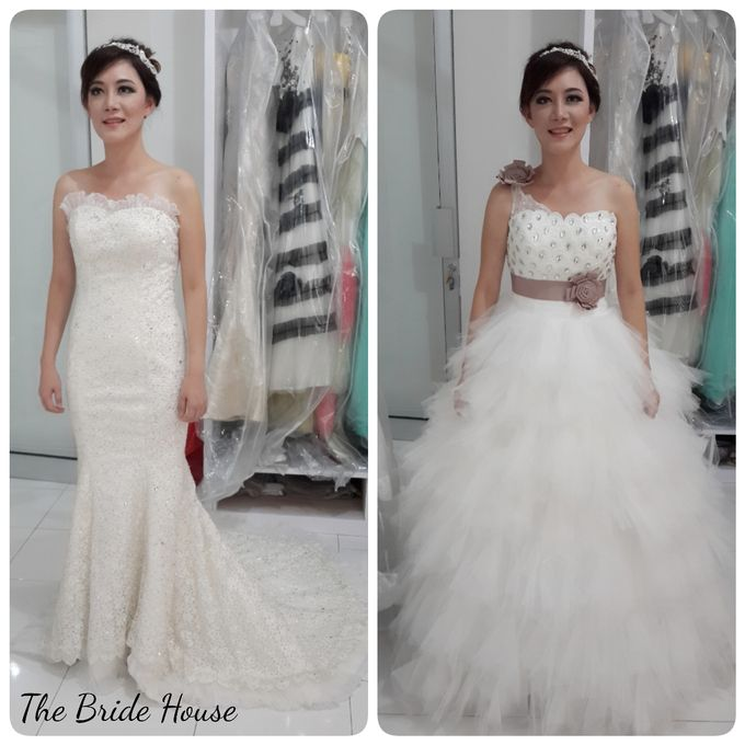 makeup n dress for wedding by The Bride House - 006