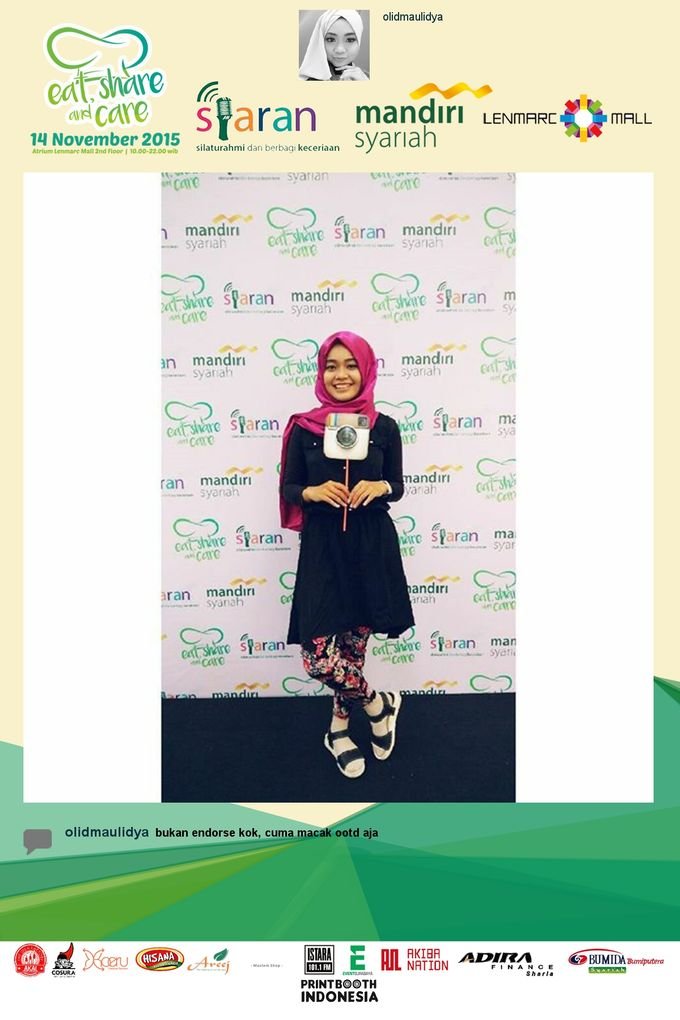 Eat Share n Care by Bank Syariah Mandiri by PRINTBOOTH INDONESIA - 009