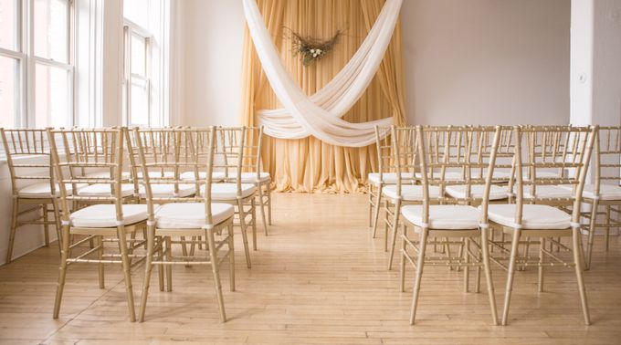 Modern Loft Wedding Ceremony by Stone House Creative - 002