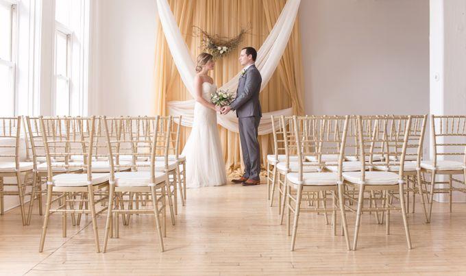 Modern Loft Wedding Ceremony by Stone House Creative - 004