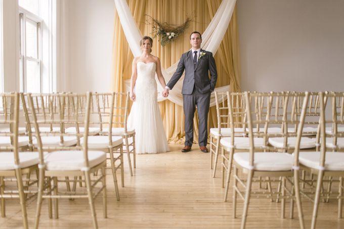 Modern Loft Wedding Ceremony by Stone House Creative - 005