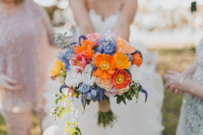 Beach wedding by Wild Blossom Flowers - 001