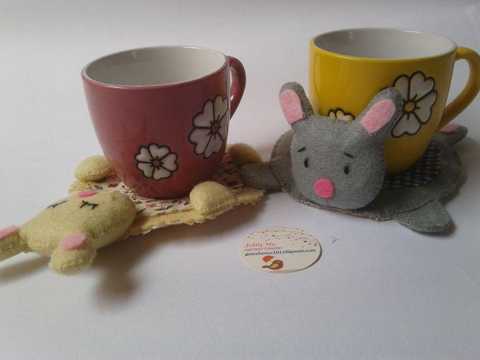Hunny Bunny Coaster by JollyMe Felt Studio - 001