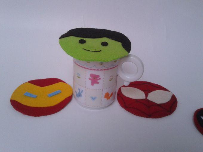 Superhero Mug Lid by JollyMe Felt Studio - 002