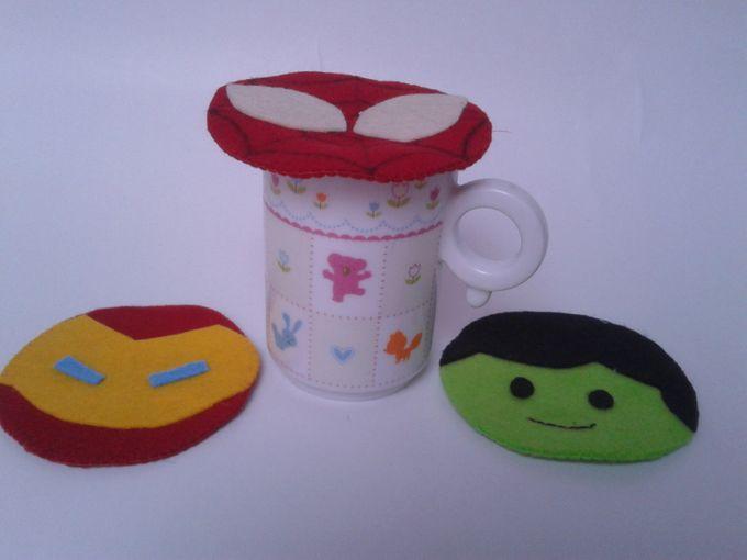 Superhero Mug Lid by JollyMe Felt Studio - 004