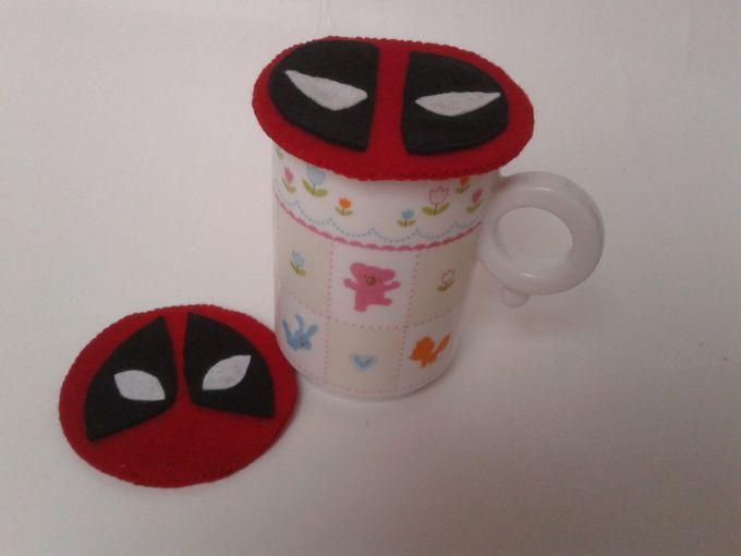 Superhero Mug Lid by JollyMe Felt Studio - 003