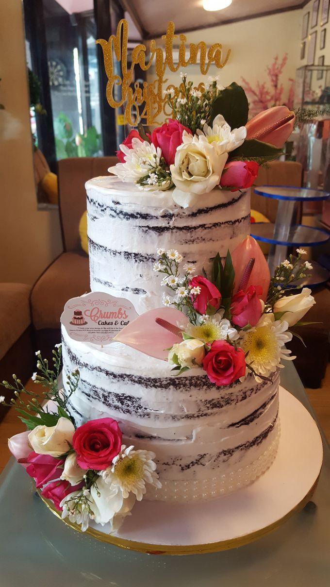 Customized Wedding Naked Cake Rustic Themed Cake by Crumbs Cake Art Bakeshop - 014