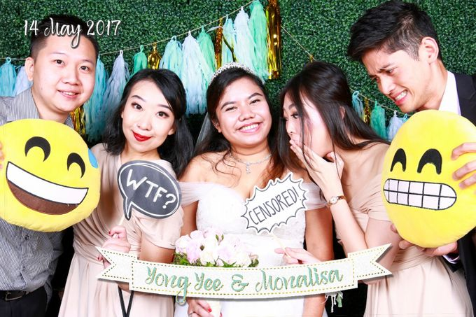Yong Yee & Monalisa - Wedding Photo Booth by The Lair Weddings Candy Bar - 001