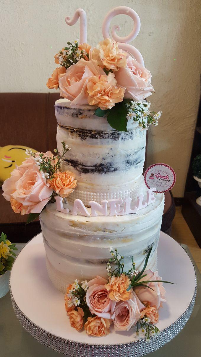 Customized Wedding Naked Cake Rustic Themed Cake by Crumbs Cake Art Bakeshop - 008