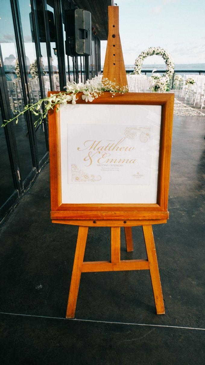 Wedding Emma & Matt  4 April 2018 by Anantara Seminyak Bali Resort - 005