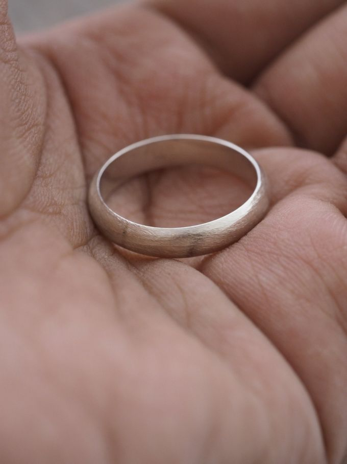 Wedding Band in Silver by Gardens of the Sun - 001