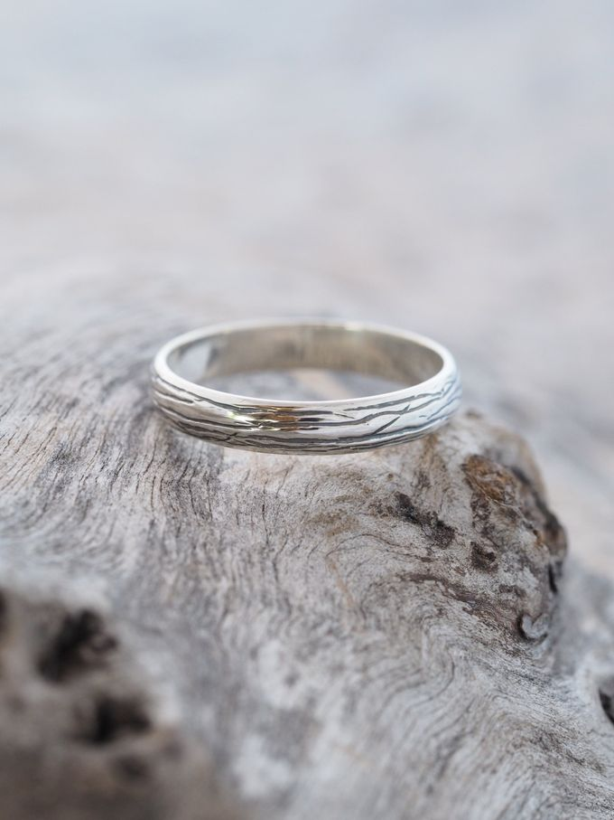 Wedding Band in Silver by Gardens of the Sun - 006