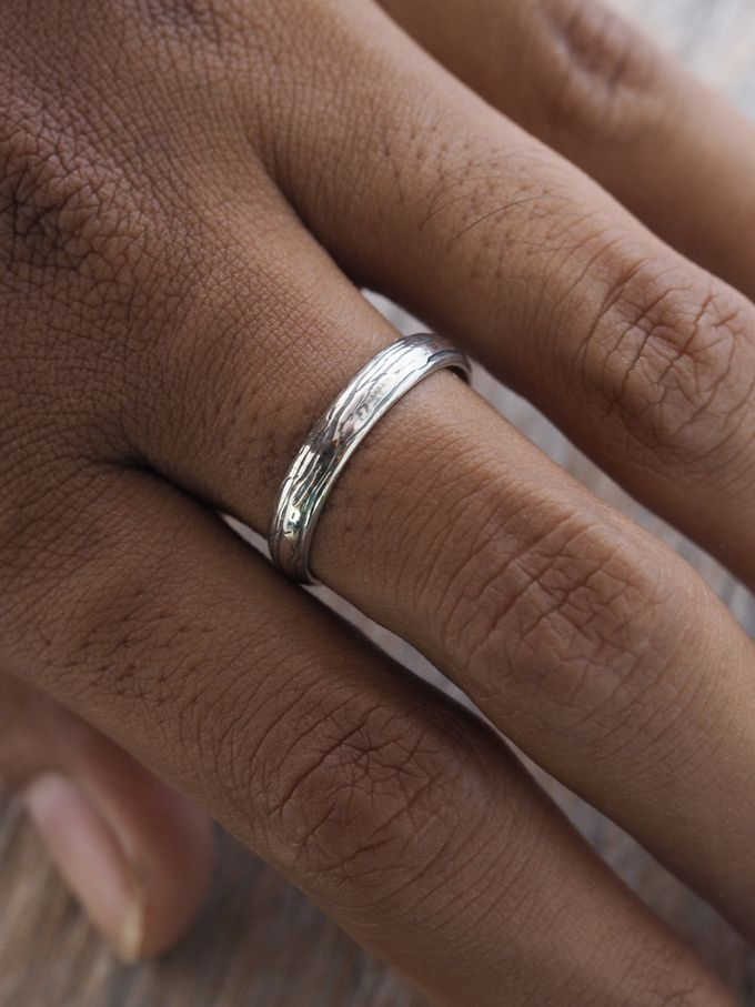Wedding Band in Silver by Gardens of the Sun - 007