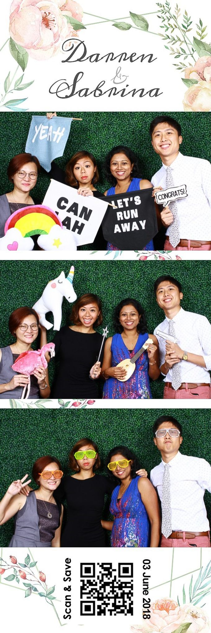 Darren & Sabrina Wedding Photo Booth by Cloud Booth - 003