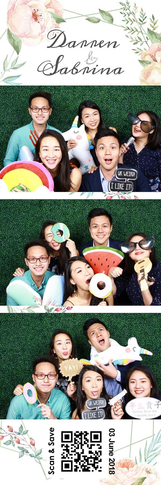 Darren & Sabrina Wedding Photo Booth by Cloud Booth - 004