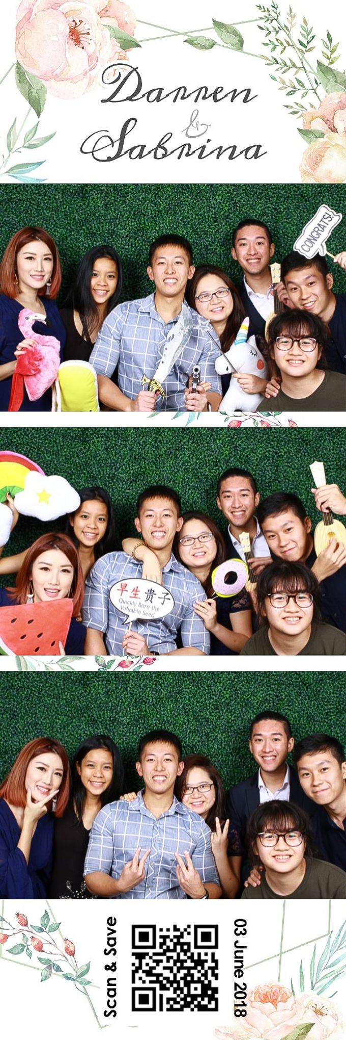 Darren & Sabrina Wedding Photo Booth by Cloud Booth - 006