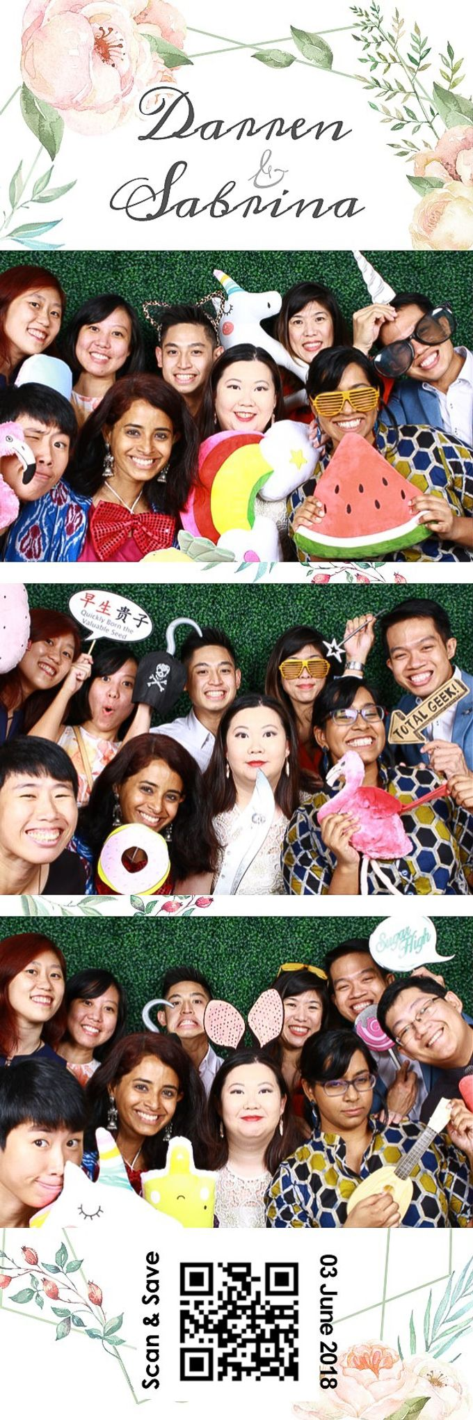 Darren & Sabrina Wedding Photo Booth by Cloud Booth - 001