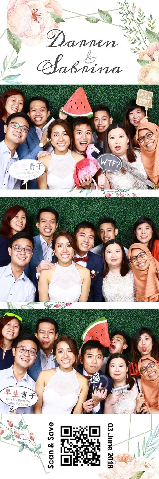 Darren & Sabrina Wedding Photo Booth by Cloud Booth - 010