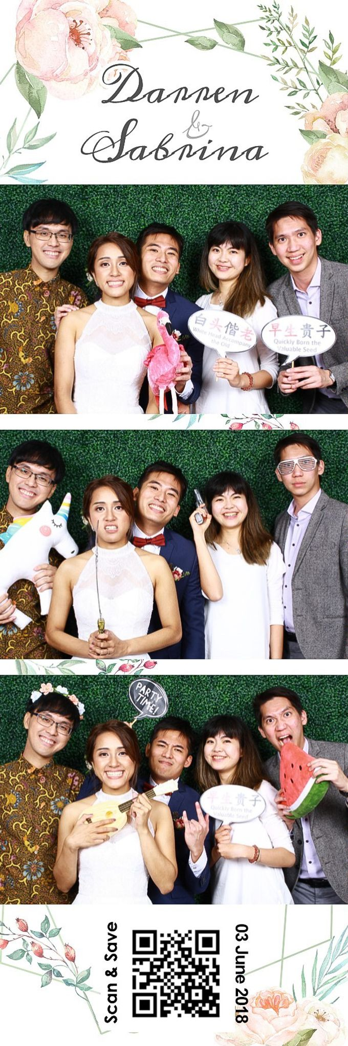 Darren & Sabrina Wedding Photo Booth by Cloud Booth - 002
