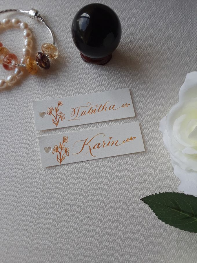 Wax Seals, Calligraphy, Place cards, European Bead by Manuscribe Calligraphy - 031