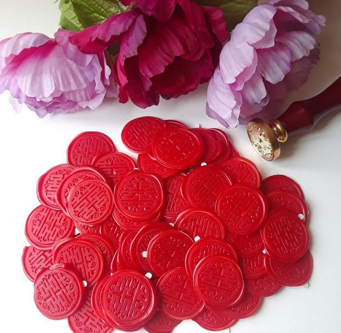 Wax Seals, Calligraphy, Place cards, European Bead by Manuscribe Calligraphy - 042