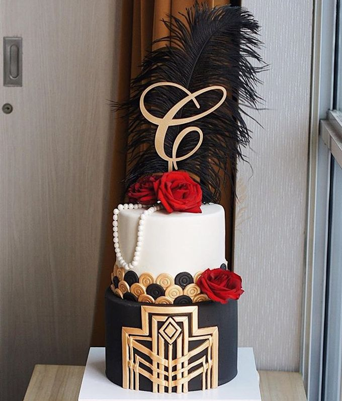 2 tiers Celebration Cake (Wedding, Birthdays, etc) by duchess bakes - 025