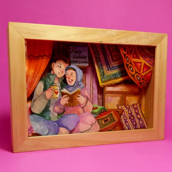 Shadowbox for Wedding Centrepiece by Kayu Manis Handmade - 002