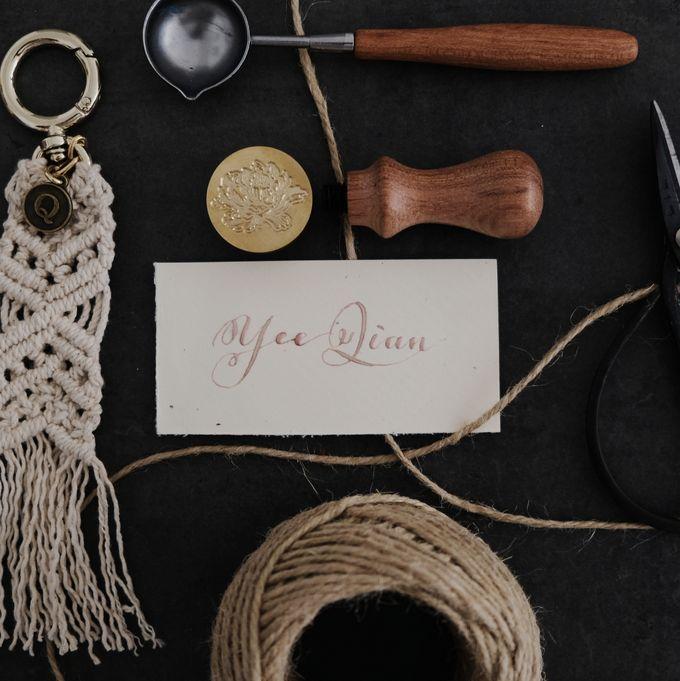 Minimalist Wedding Place Card/ Gift Tag by Dumdeedum - 005