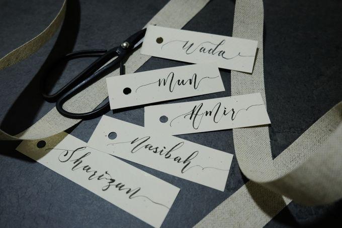 Minimalist Wedding Place Card/ Gift Tag by Dumdeedum - 003