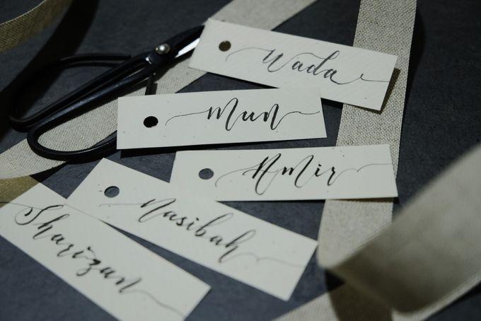 Minimalist Wedding Place Card/ Gift Tag by Dumdeedum - 001