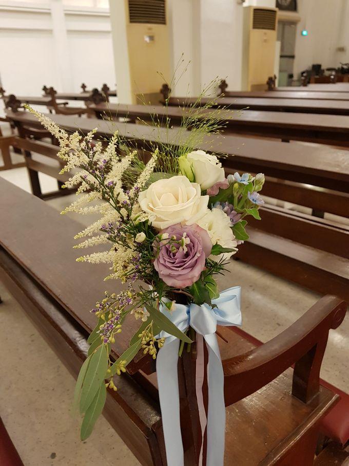 Mike & Jocelyn Church Wedding by Happyflorals - 005