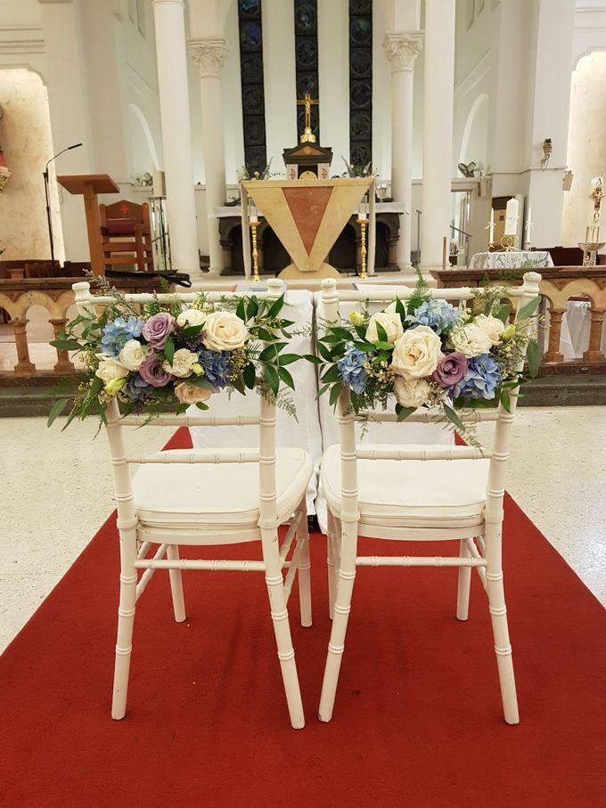 Mike & Jocelyn Church Wedding by Happyflorals - 007