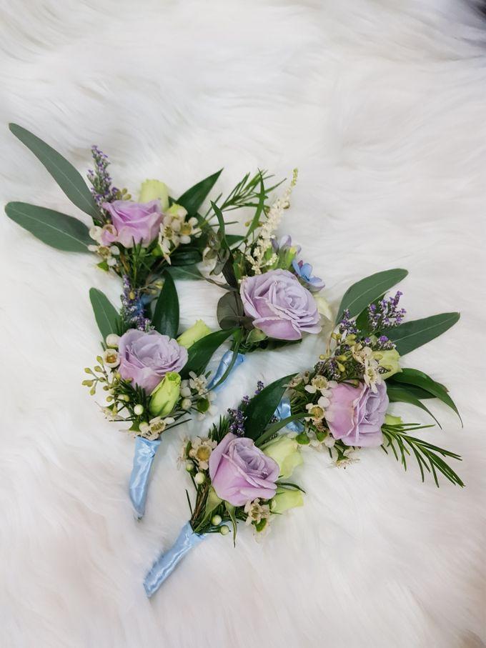 Mike & Jocelyn Church Wedding by Happyflorals - 004