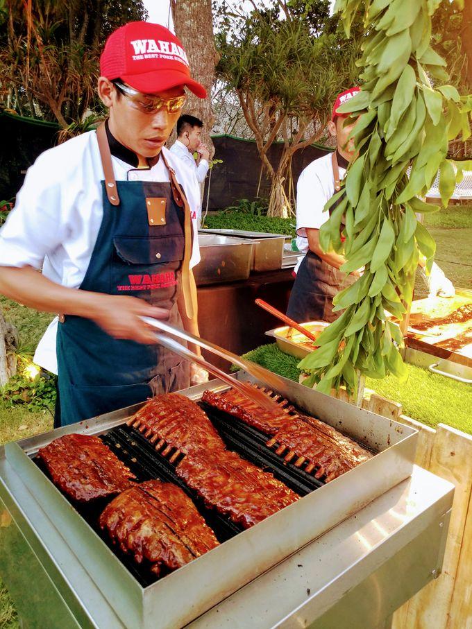 Live Grilled BBQ Station At Villa Ombak Biru by Wahaha Pork Ribs - 013