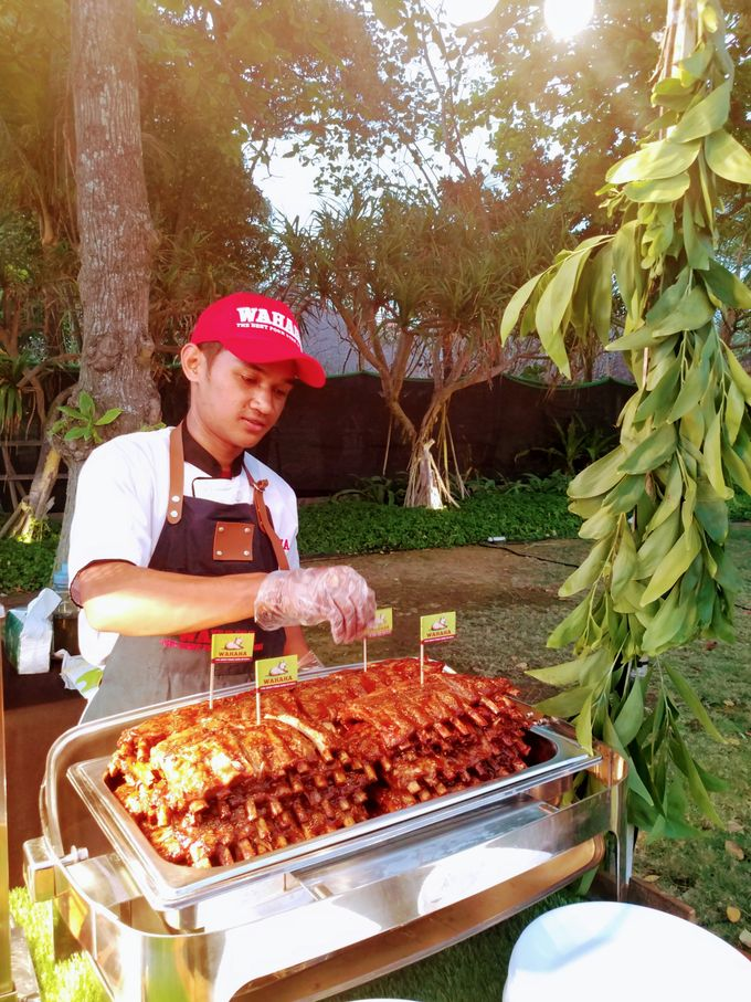 Live Grilled BBQ Station At Villa Ombak Biru by Wahaha Pork Ribs - 009
