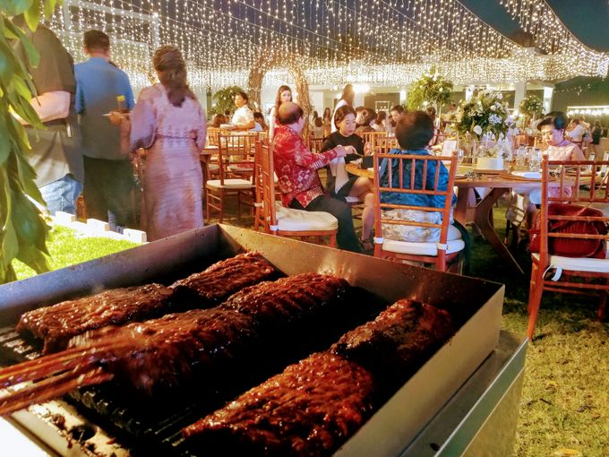 Live Grilled BBQ Station At Villa Ombak Biru by Wahaha Pork Ribs - 035