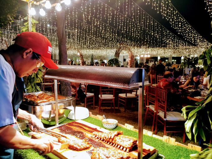 Live Grilled BBQ Station At Villa Ombak Biru by Wahaha Pork Ribs - 027