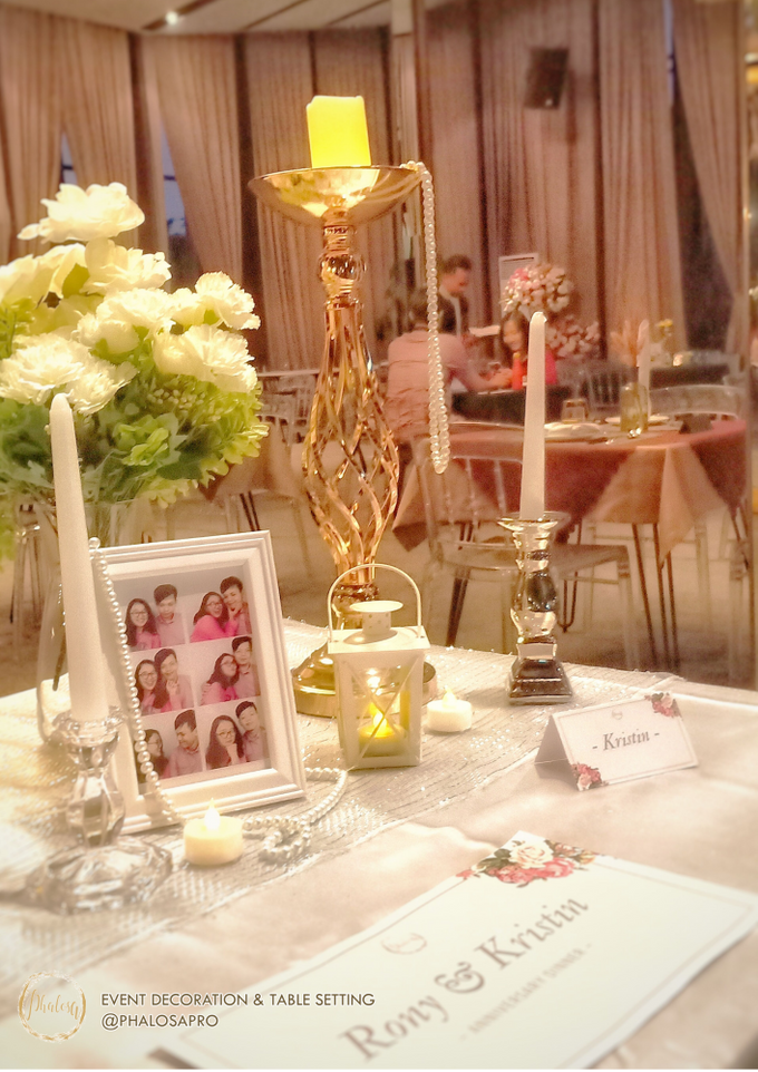 Ronny & Kristin Anniversary Dinner by Phalosa Event Decoration & Table Setting - 004