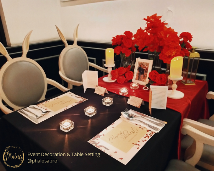 Harris & Silvia Anniversary Dinner by Phalosa Event Decoration & Table Setting - 001