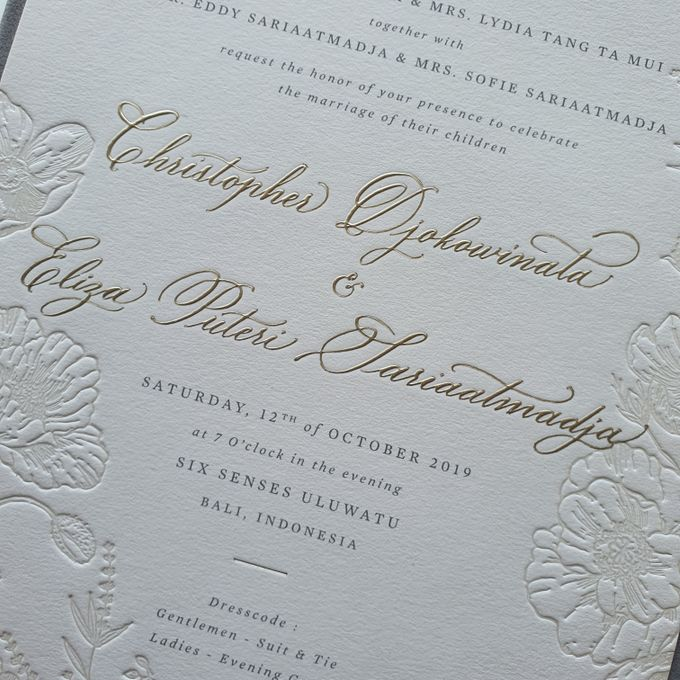Chris & Eliza by Pensée invitation & stationery - 001