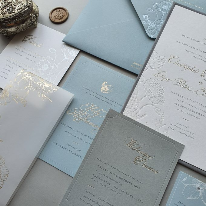 Chris & Eliza by Pensée invitation & stationery - 003