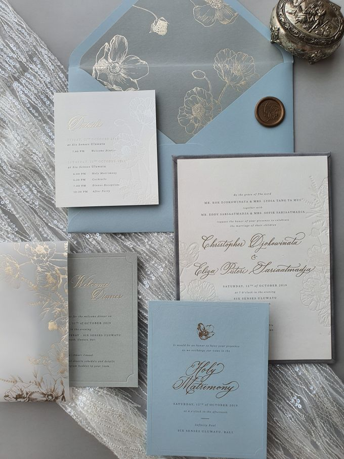 Chris & Eliza by Pensée invitation & stationery - 004