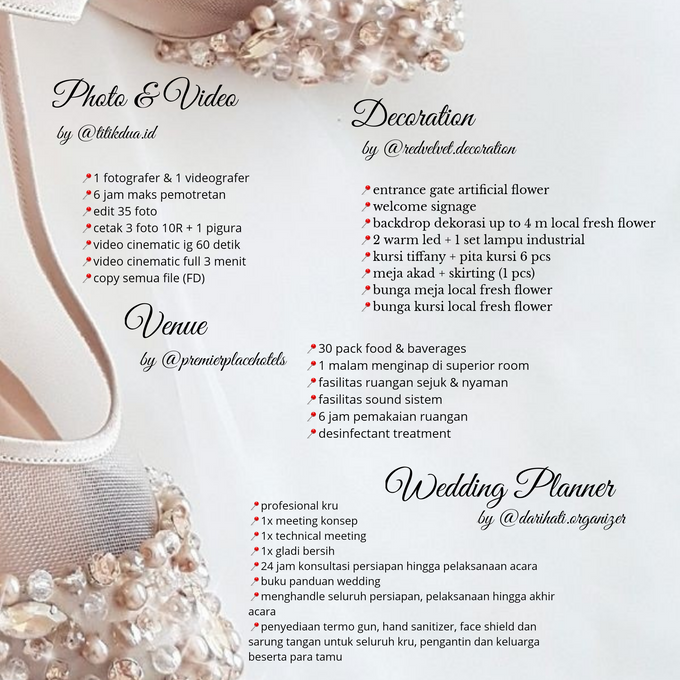 Unforgettable Wedding Vow Wedding Package by Levios Planner - 003