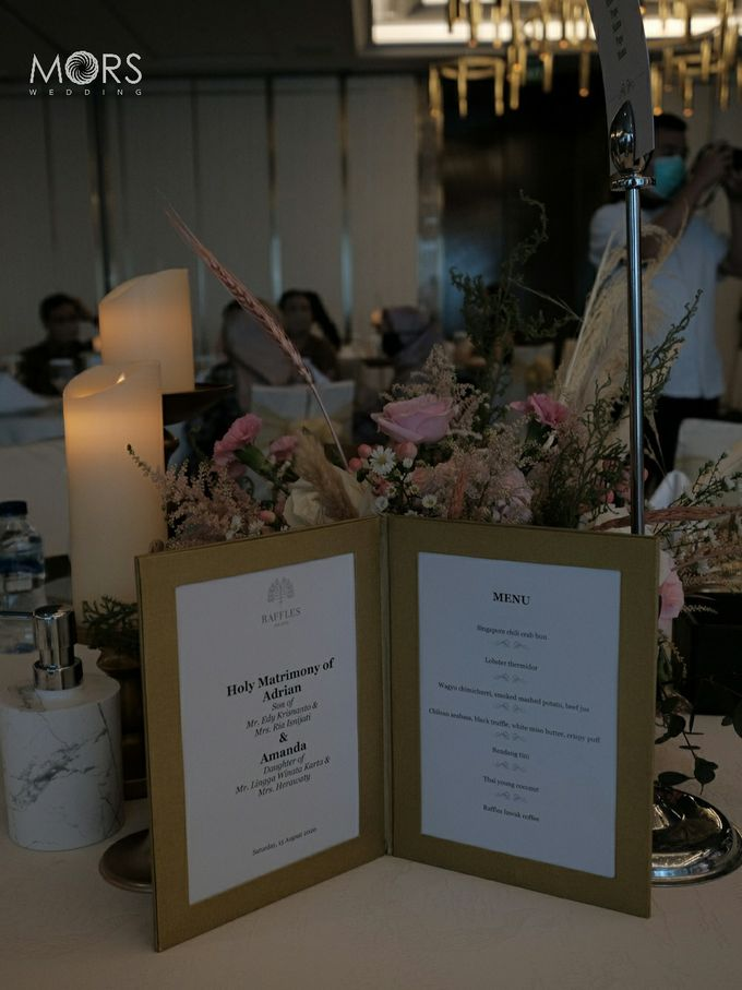 The Wedding of Amanda & Adrian by Raffles Jakarta - 011