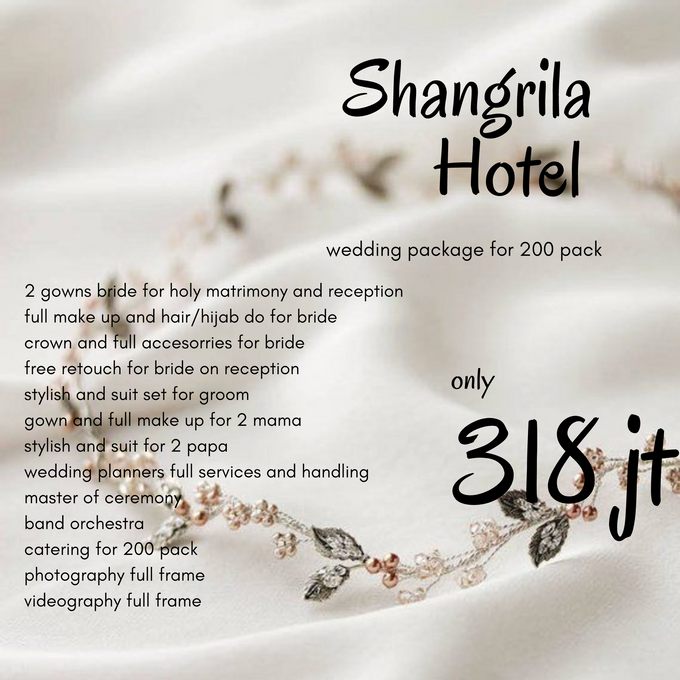Complete Wedding Package Shangrila Hotel 200 Pack by Levios Planner - 001